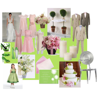Light Pink & Apple Green
