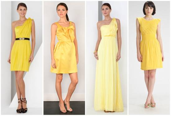 Trendy Yellow Bridesmaid Dresses 2010/2011