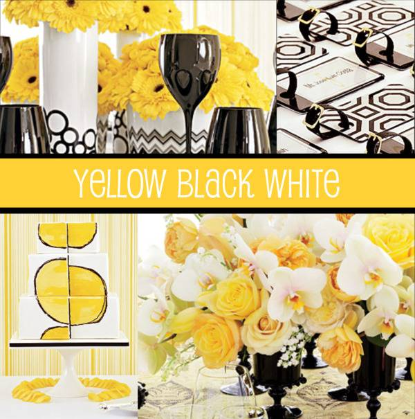 Yellow Black & White