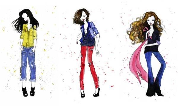 Prismera Design Fashion Illustration Prints for Breast Cancer Awareness