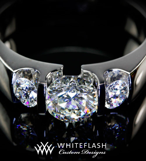 White Flash Custom Diamond Engagement Ring