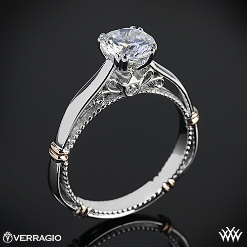White Flash Verragio Engagement Ring