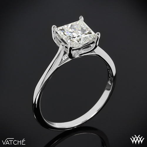 "18k White Gold ""Alegria"" Solitaire Diamond Engagement Ring by Vatche"