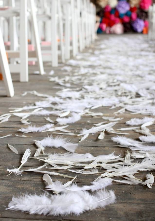 Feathered Wedding Aisle