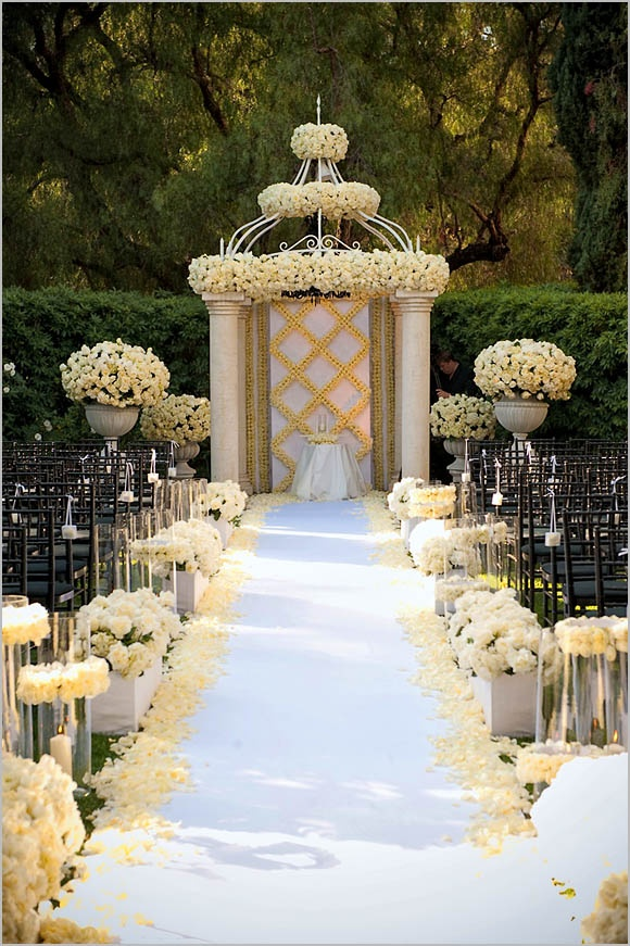 Formal Wedding Aisle