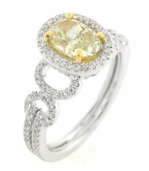 Engagement Ring with Yellow Diamond