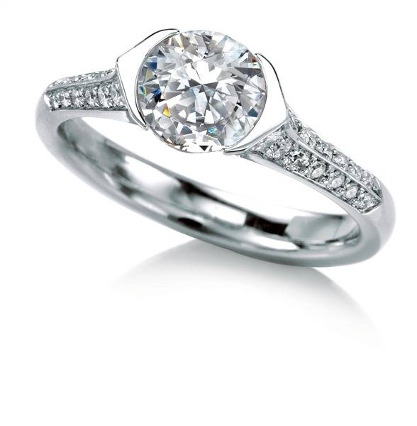 Pave Diamond Rora Engagement Ring