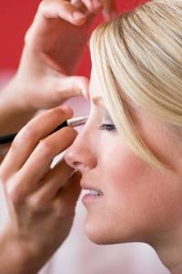 Wedding Makeup Artist and Bride