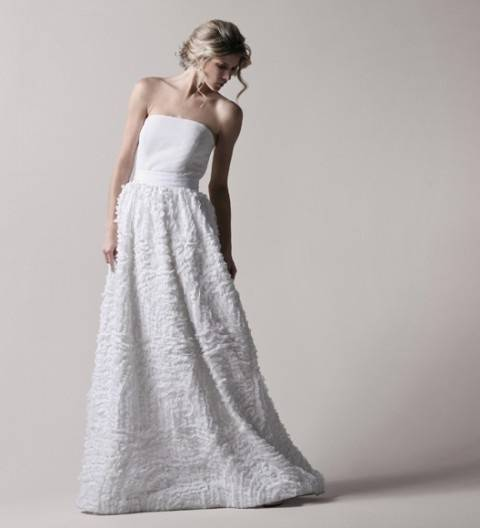 Textured Wedding Gown