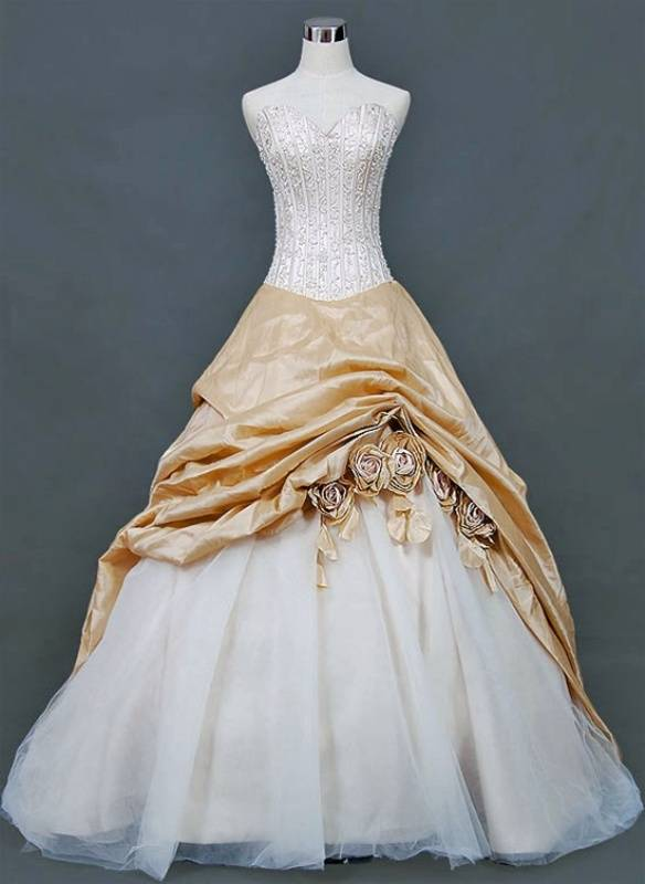 Fashion Trend: Gold Wedding Dresses