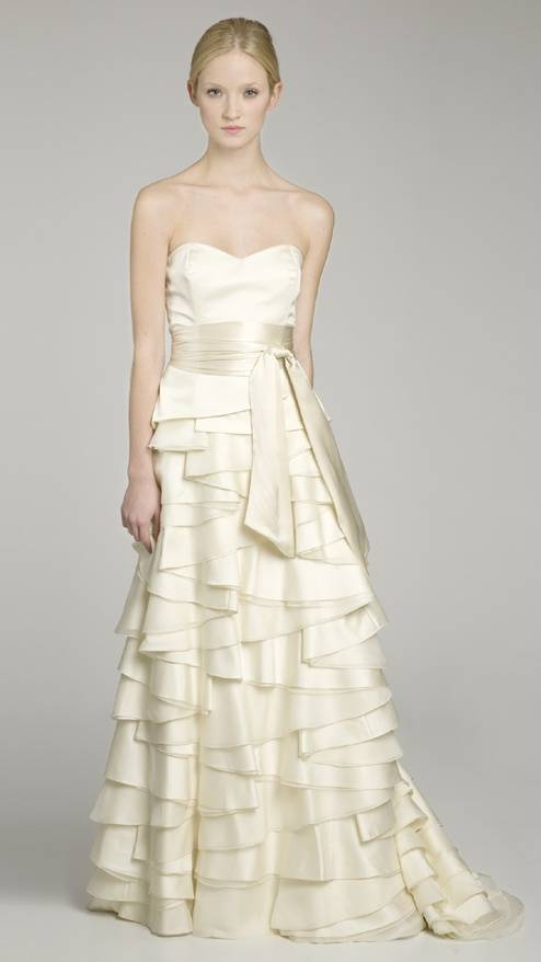 Soft Ruffled Wedding Dress