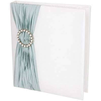 TIFFANY BLUE PLEAT & PEARL BUCKLE PHOTO ALBUM