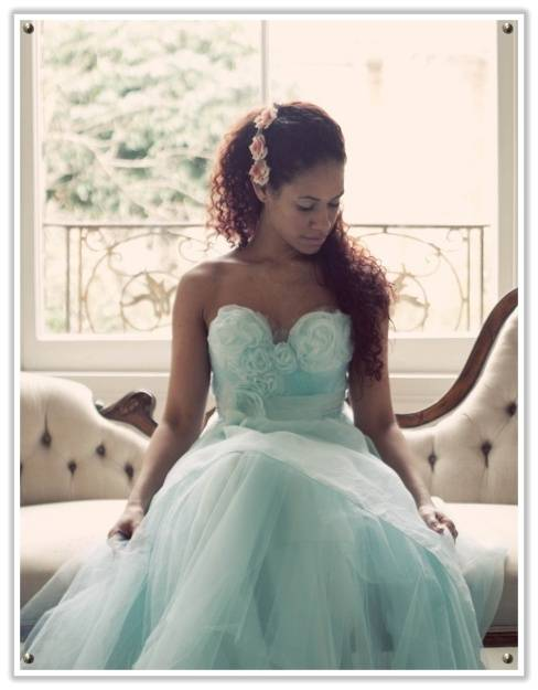Tiffany Blue Wedding Dress