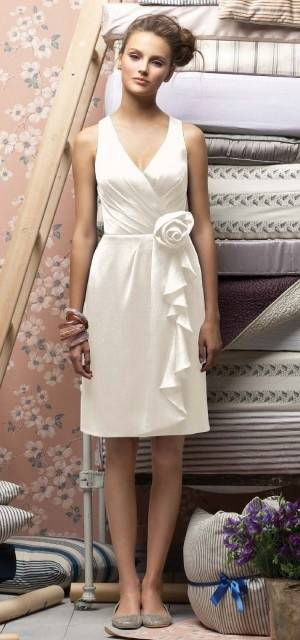 Calf Length Wedding Dress