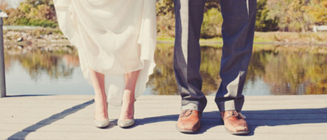 Bride and Groom Feet Photo