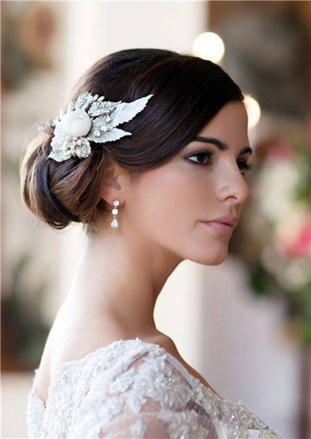 Side Bun Wedding Hair