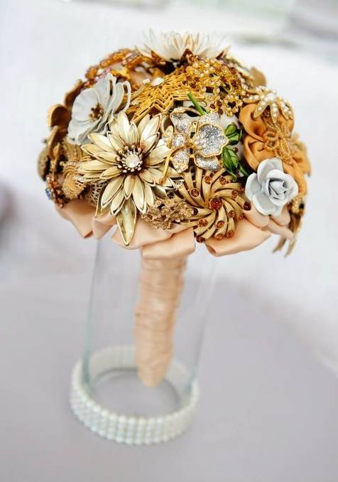 Fall Colored Brooch Bouquet