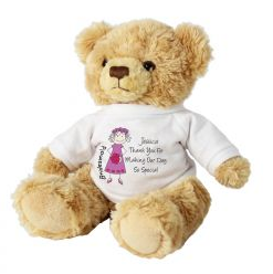 Personalised Cartoon Bridesmaid Teddy