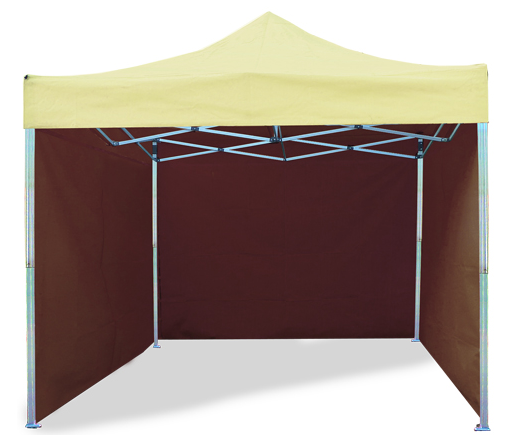 Cream and Brown Color Tent