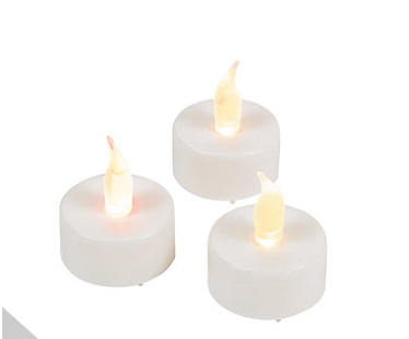 White Battery-Operated Tealight Candles