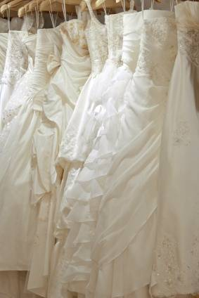 Hanging Wedding Dresses