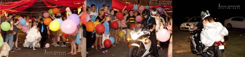At the end we ran through the hall of punching balloons to our getaway motorcycleto the tune of the 1989 Batman Movie theme