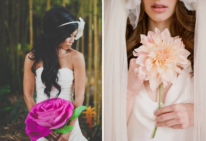 Striking Single-Flower Bouquets - Wedding Fanatic