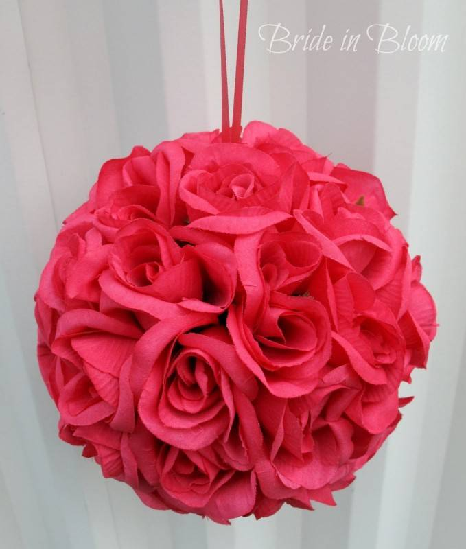 Super Easy Flower Balls DIY Wedding Project