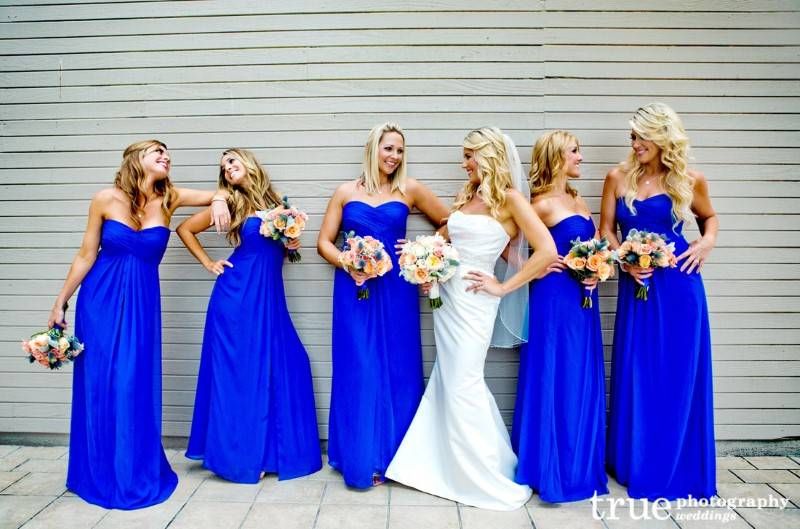 Bridesmaids Who Have the Blues