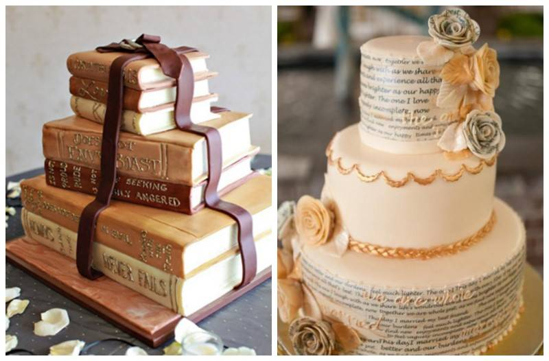 Open Book Wedding Cake Topper