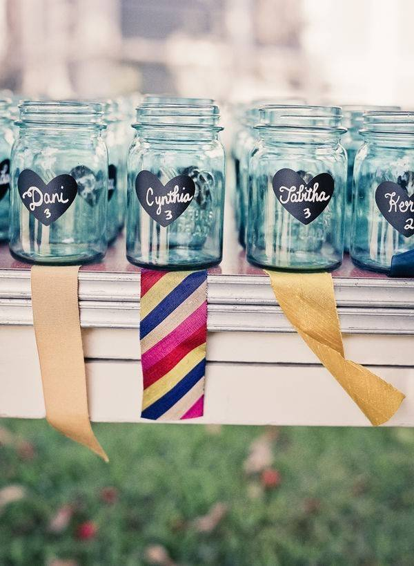 Clever Mason Jar Drinking Glass Idea for Your Wedding Reception