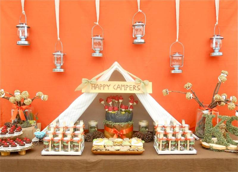 Fun Wedding Theme for Fall: Camping