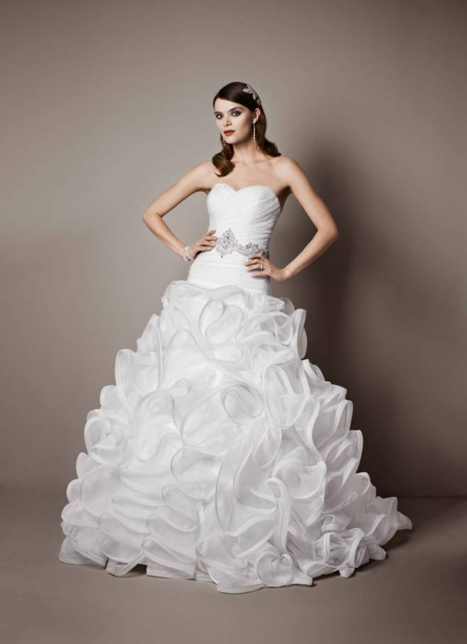 www.davidsbridal.com/Product_Ball-Gown-with-Embellished-Waist-and-Ruffled-Skirt-SWG492
