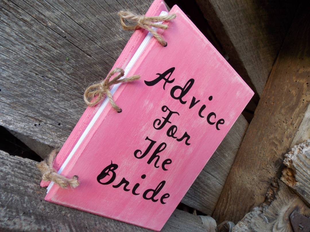 bridal shower guest book advice for the bride