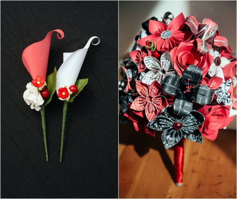 A Black and Red Garden Wedding