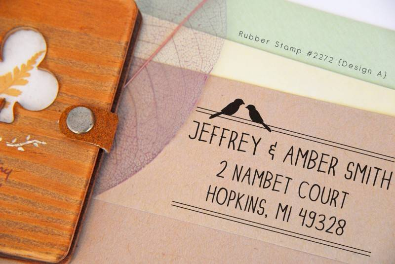 Beautiful Custom Address Rubber Stamp for Wedding Invitations