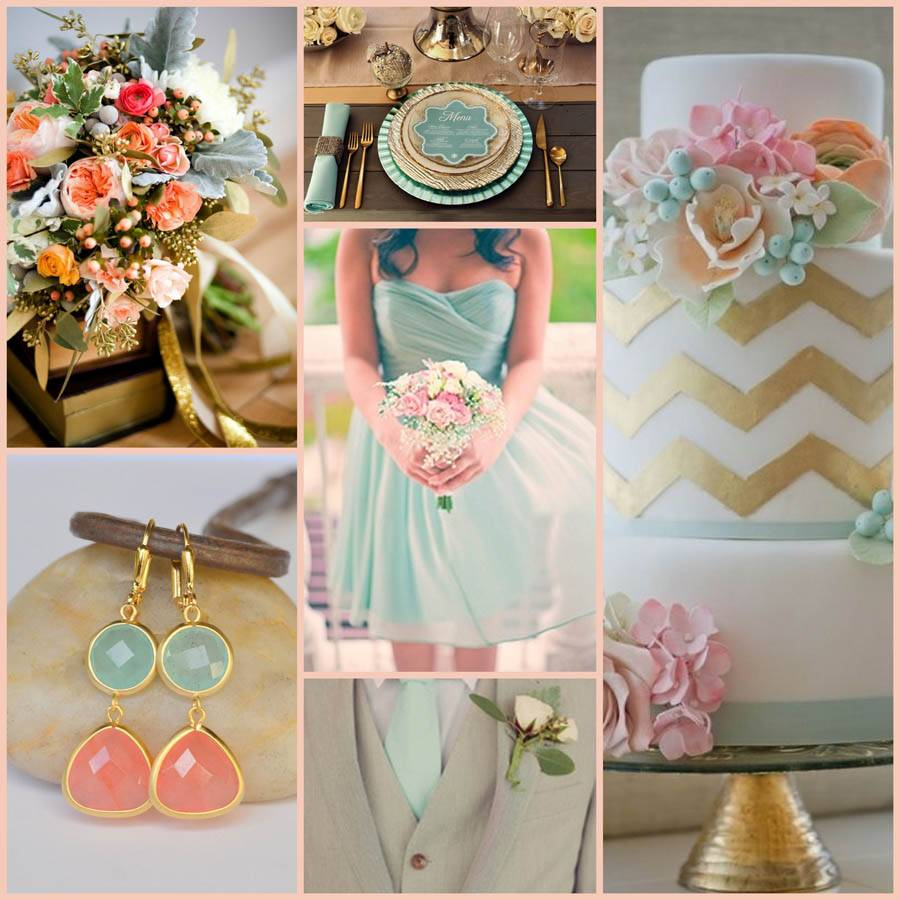 Mint and Gold Wedding Color Palette