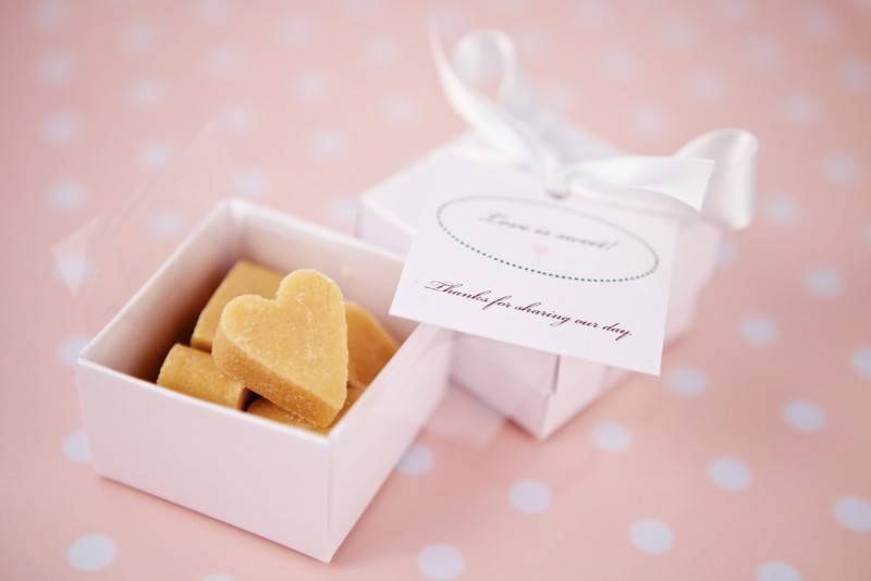 DIY Heart Shaped Fudge Wedding Favors