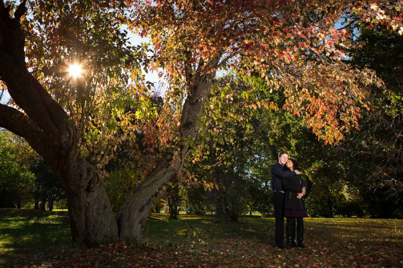 Outdoor Engagement in Autumn