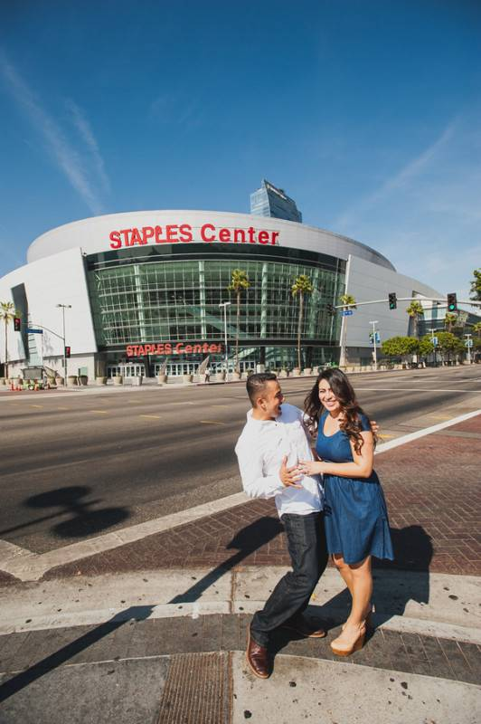 Staples Center Engagement Photography Session