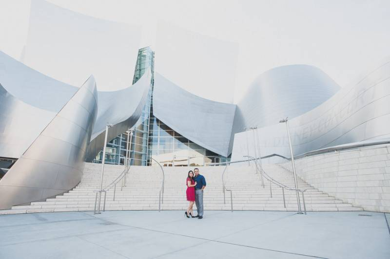 Walt Disney Concert Hall Engagement Pre Wedding Photography Los Angeles