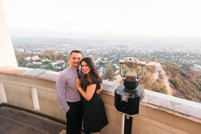 Griffith Park Observatory Engagement Pre Wedding Fine Art Photography