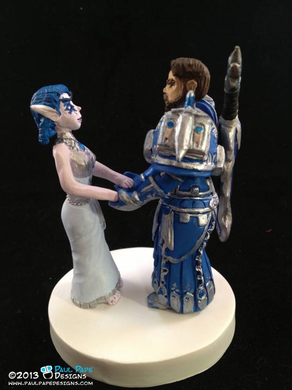 Whimsical Wedding Cake Toppers for the Fantasy Themed Wedding
