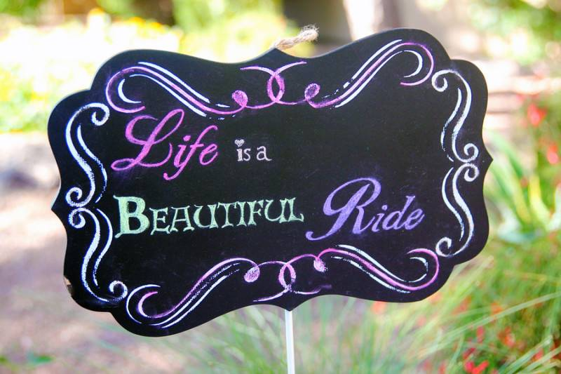 Life Is A Beautiful And Colorful Ride
