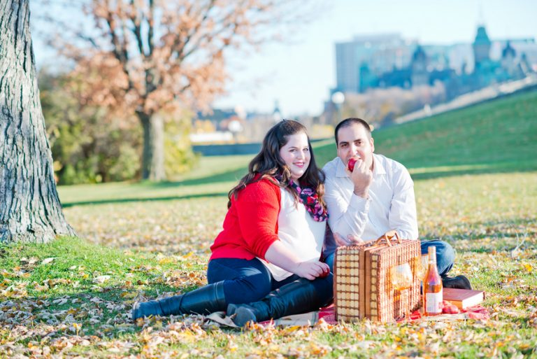 Autumn Picnic Inspired Engagement