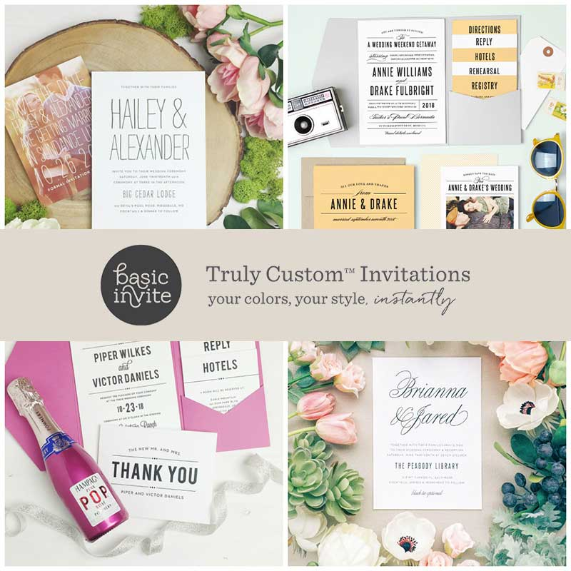 4 Elegant Ways To Customize Your Basic Invite Wedding Invitations