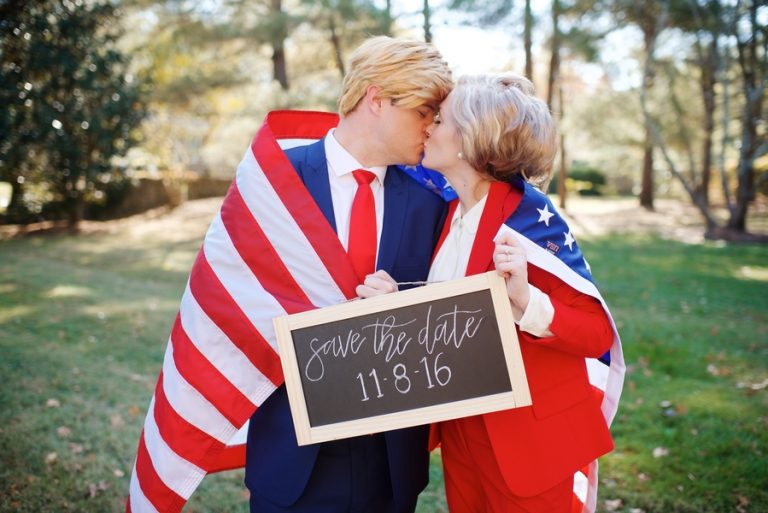 Secret Revealed: Trump + Clinton In Love! | Styled Shoot