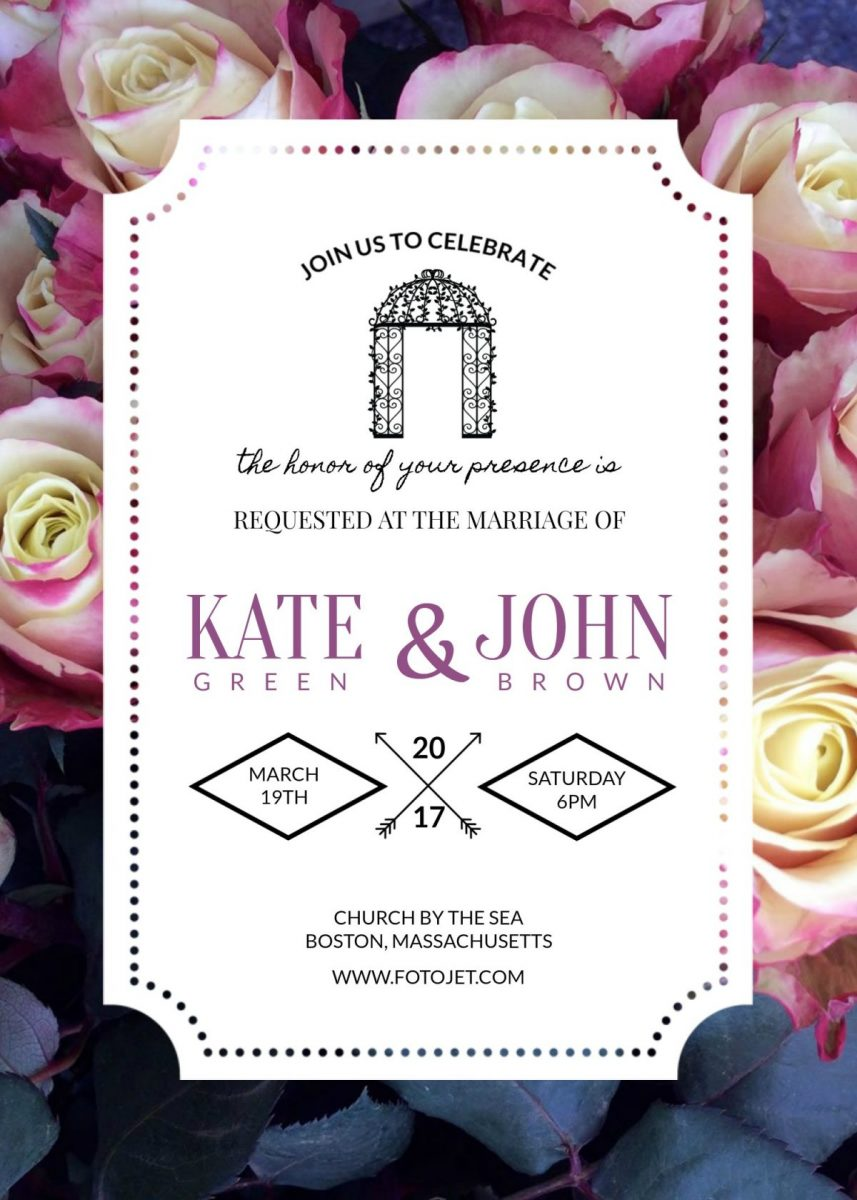 3 Beautiful FREE Wedding Invitation Templates That You Can Make ...