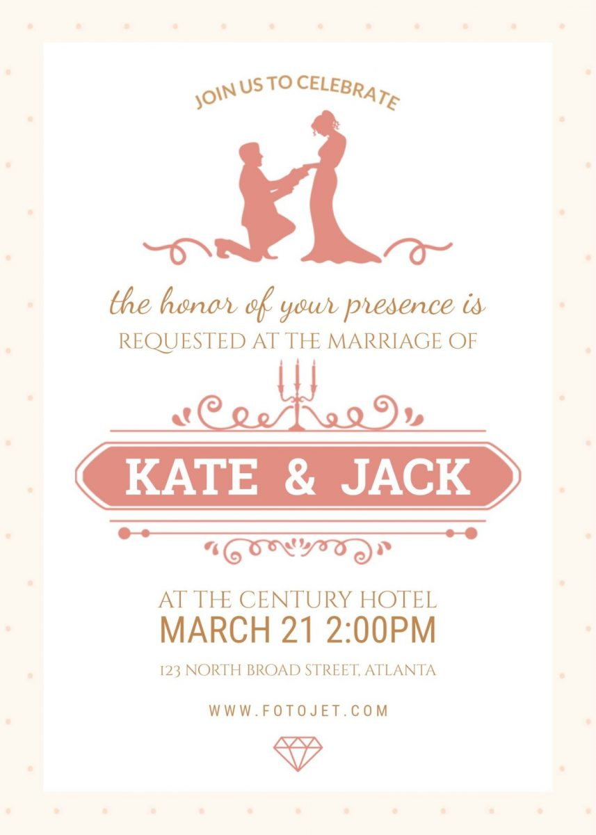 3 Beautiful FREE Wedding Invitation Templates That You Can Make Yourself on FotoJet.com