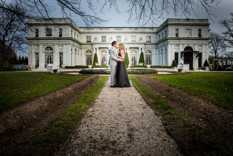 Immaculate Engagement at Newport Mansion